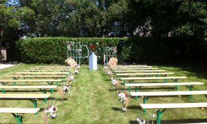 Jardin pour cérémonie laique