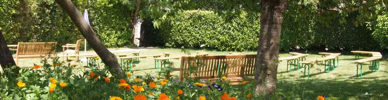 Jardin du domaine près de dinard