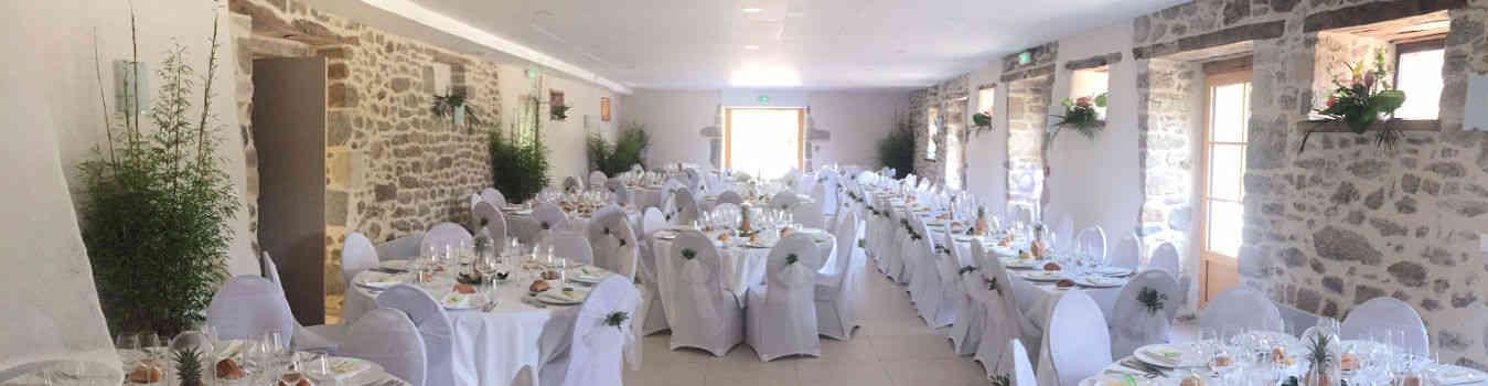 Salle de mariage champetre